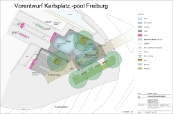 Karlspool Freiburg - Vorentwurf