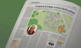 Zeitungsartikel über unseren Pumptrack in Rheinberg