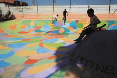 Skatepark Bethlehem Palästine zweite Bemalung Betonlandschaften 3