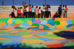 Skatepark Bethlehem Palästine zweite Bemalung Betonlandschaften 4