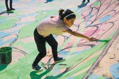 Skatepark Bethlehem Palästine zweite Bemalung Betonlandschaften 7