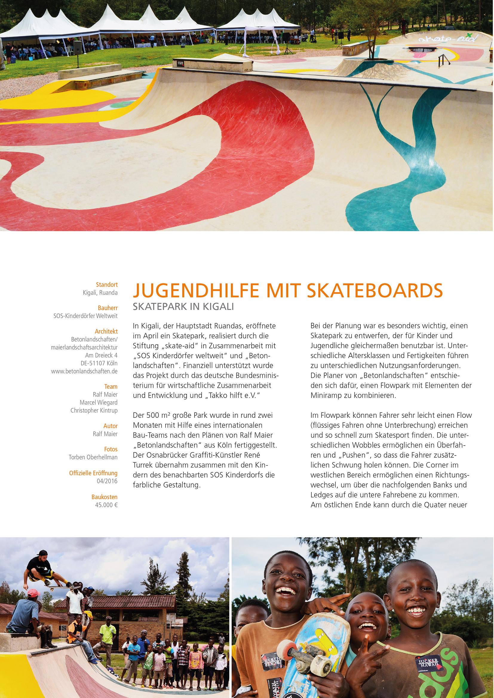 Skatepark Ruanda Betonlandschaften