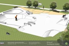 Skatepark Eisfeld Visualisierung Animation Betonlandschaften 1