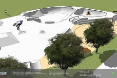 Skatepark Eisfeld Visualisierung Animation Betonlandschaften 2