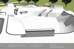Skatepark Eisfeld Visualisierung Animation Betonlandschaften 3