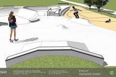 Skatepark Eisfeld Visualisierung Animation Betonlandschaften 4
