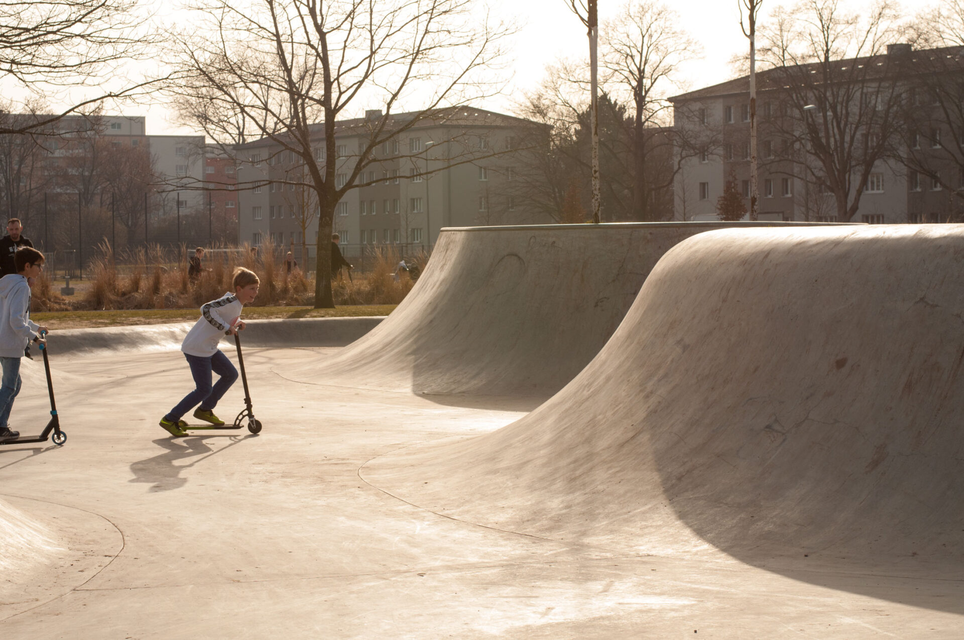 Frühling im Skatepark Reese-Kaserne Augsburg
