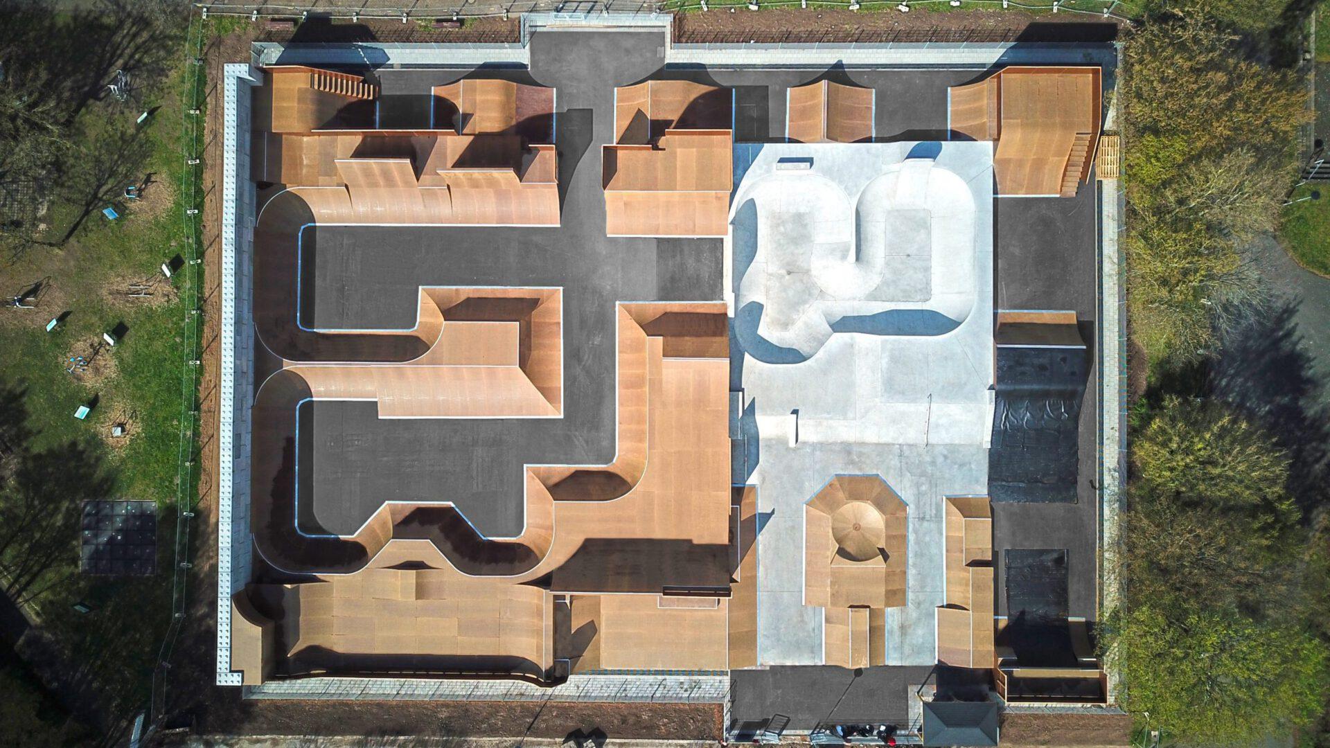 Darmstadt Bikepark - Fertigstellung - Ansicht von oben