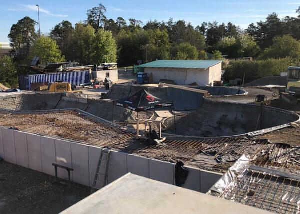 Unterschleissheim/Lohhof Skatepark - Baufortschritt