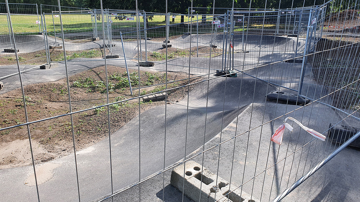Baden Baden Pumptrack - Sicherheitstech Abnahme 210624