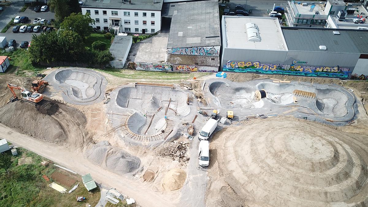 Projekt Dortmund Hombruch Bowl Baufortschritt 210913